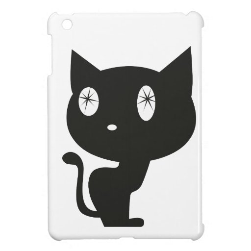Schwarze Katze iPad Mini Schale