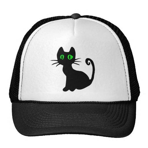 Schwarze Katze Trucker Mützen