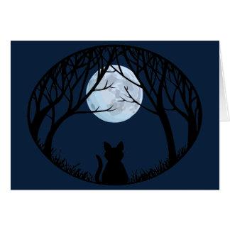 Schwarze Katze kardiert kundenspezifische Katze, K Karten
