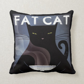 Schwarze Katze Kissen