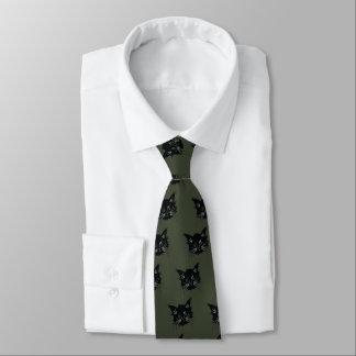 schwarze Katze Krawatte