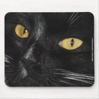 Schwarze Katze Mauspads