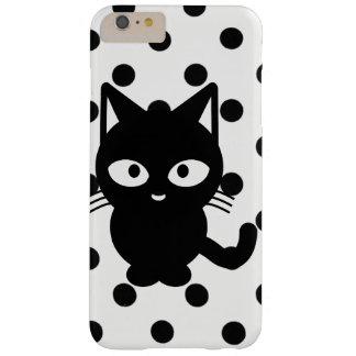 schwarze Katze mit Poke punktiert Handyfall Barely There iPhone 6 Plus Hülle
