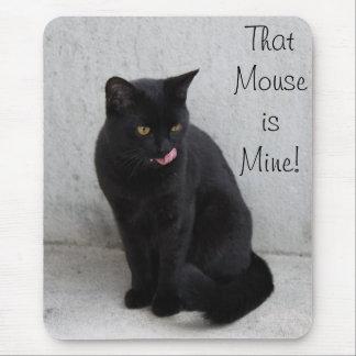 Schwarze Katze mousepad fertigen besonders an