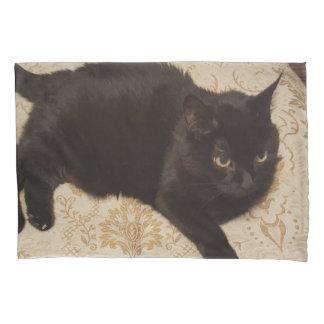Schwarze Katze Roxie Kissen Bezug