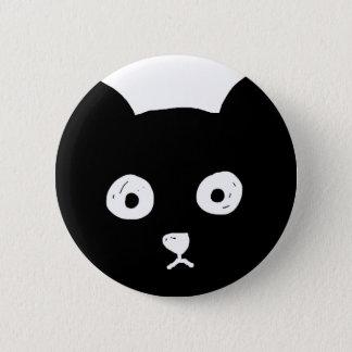 Schwarze Katze Runder Button 5,1 Cm