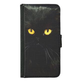 Schwarze Katze Samsung Galaxy S5 Geldbeutel Hülle