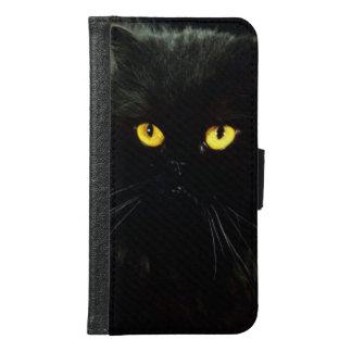 Schwarze Katze Samsung Galaxy S6 Geldbeutel Hülle
