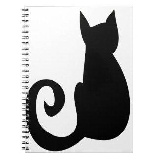 Schwarze Katze Spiral Notizblock