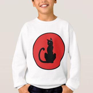 Schwarze Katze Sweatshirt