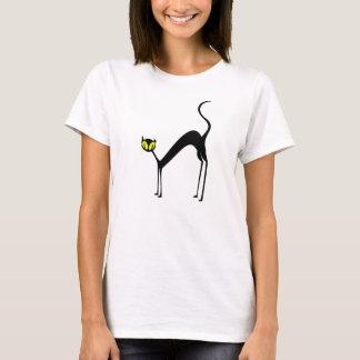 Schwarze Katze T-Shirt