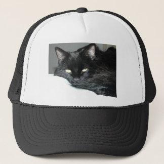 schwarze Katze Truckerkappe
