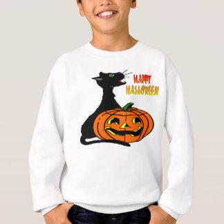 Schwarze Katze u. Kürbislaterne Sweatshirt