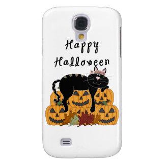 Schwarze Katze und Kürbise Halloweens Galaxy S4 Hülle