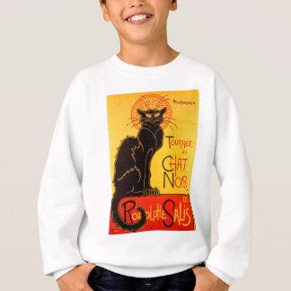 Schwarze Katze Vintage Tournee de Chat Noir Sweatshirt