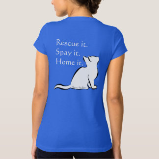 Schwarze Katze, weiße Fülle, innerer Text T-Shirt