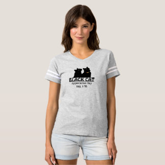 Schwarze Katzen-Anerkennungs-TagesDoppelShirt T-shirt