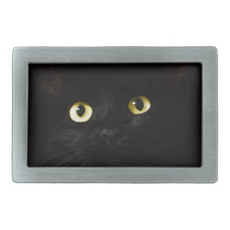 Schwarze Katzen-Ansicht-Katzenaugen-Katze, die Rechteckige Gürtelschnalle