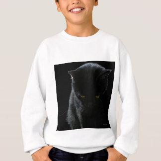 Schwarze Katzen-Denken Sweatshirt