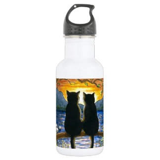 Schwarze Katzen der Katze 582 Trinkflaschen