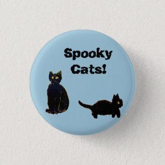 Schwarze Katzen der Katzen-Kunst-zwei Runder Button 2,5 Cm