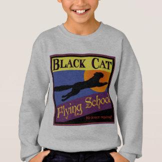 Schwarze Katzen-Fliegen-SchulVintager Halloween-T Sweatshirt