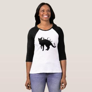 Schwarze Katzen-Franzose-Shirt Le Chat Noir T-Shirt