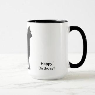 Schwarze Katzen-Geburtstag Tasse