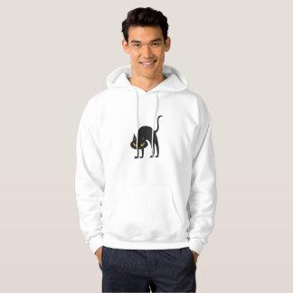 Schwarze Katzen-Geschenk 2017 Halloweens Hoodie