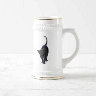 Schwarze Katzen-Geschenke u. Zusätze Bierglas