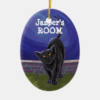 Schwarze Katzen-Geschenke u. Zusätze Keramik Ornament