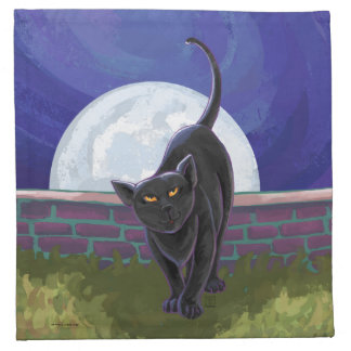 Schwarze Katzen-Geschenke u. Zusätze Serviette