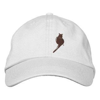 Schwarze Katzen-gestickter Hut