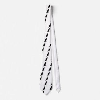 Schwarze Katzen-glatte Silhouette Halloweens Personalisierte Krawatten