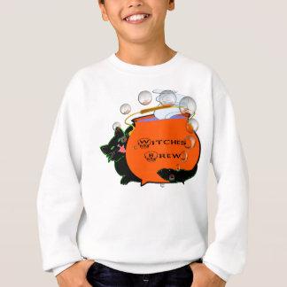 Schwarze Katzen-Hexe-Gebräu Sweatshirt