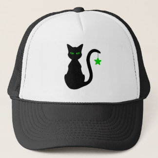 Schwarze Katzen-Hut Truckerkappe