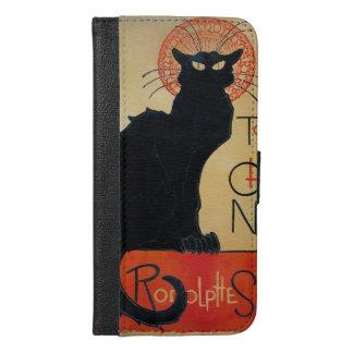 Schwarze Katzen-Kabarett Tournee du Chat Noir iPhone 6/6s Plus Geldbeutel Hülle