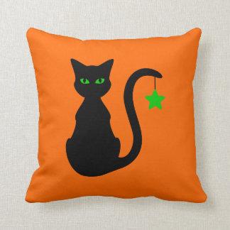 Schwarze Katzen-Kissen Kissen
