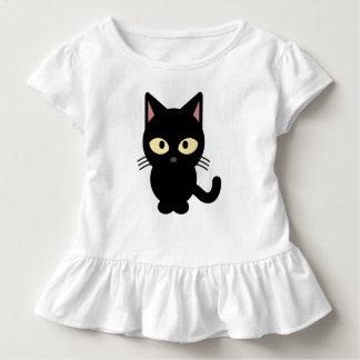 Schwarze Katzen-Kleid Kleinkind T-shirt