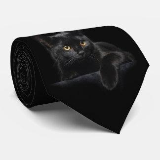 Schwarze Katzen-Krawatte Personalisierte Krawatten