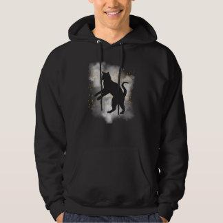 Schwarze Katzen-Kürbisconfetti-T - Shirt