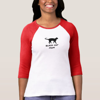 Schwarze Katzen-Mamma T-Shirt