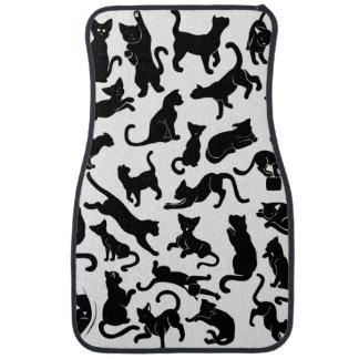 Schwarze Katzen-Muster Automatte