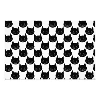 Schwarze Katzen-Muster Druckpapiere