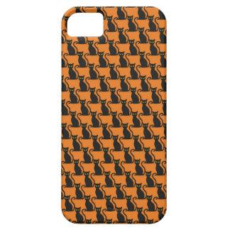 Schwarze Katzen-Muster Hexe-vertrautes Halloweens Barely There iPhone 5 Hülle