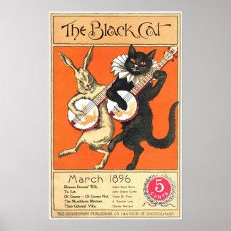 Schwarze Katzen-Nr 2-Plakat
