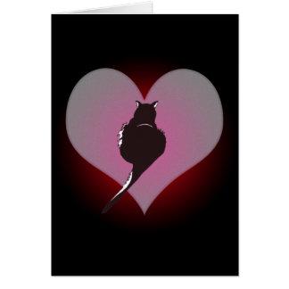 Schwarze Katzen-Panther meine Herz-Karte Karte