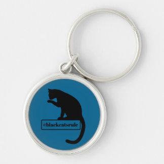 Schwarze Katzen-Regel Schlüsselanhänger