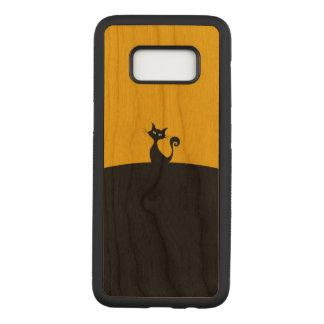 Schwarze Katzen-Samsung-Galaxie S8 nehmen Carved Samsung Galaxy S8 Hülle