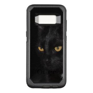 Schwarze Katzen-schöne Augen-Nachtphotographie OtterBox Commuter Samsung Galaxy S8 Hülle
